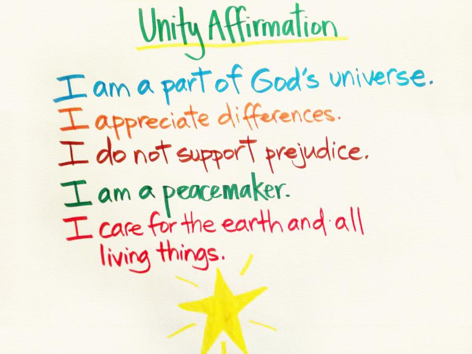 cv unity affirmation